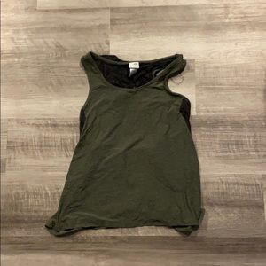 Black and green workout top